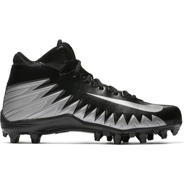 ac798dc67bb ... Grade School Boys  Nike Alpha Menace Varsity Mid Football Cleats Tap to  Zoom  Black Metallic Silver-White