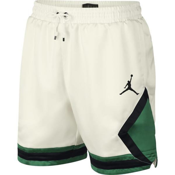 f2bbb042061 ... Men's Jordan Satin Diamond Basketball Short Tap to Zoom; Sail/Pine  Green/Black/Black