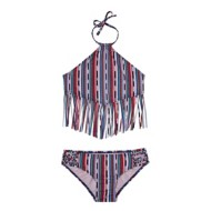 Youth Girls' Gossip Girls Desert Stripe Tankini Set