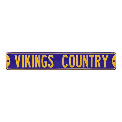 Authentic Street Signs Minnesota Vikings Country Street Sign