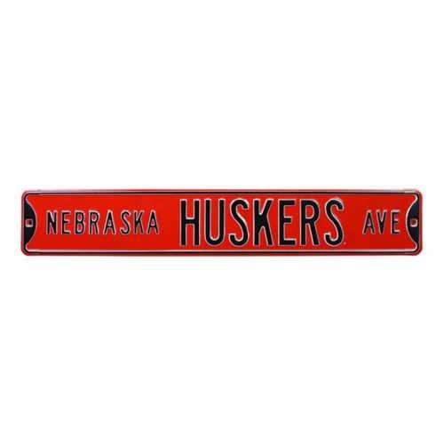 "Authentic Street Signs Nebraska Cornhuskers ""Nebraska Huskers Ave."" Street Sign"