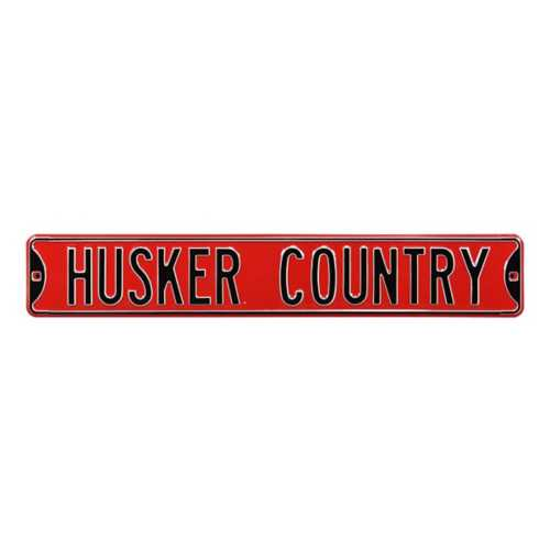 "Authentic Street Signs Nebraska Cornhuskers ""Husker Country"" Street Sign"