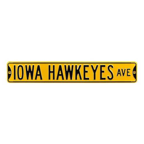 """Authentic Street Signs Iowa Hawkeyes """"Hawkeyes Ave."""" Stree Sign"""