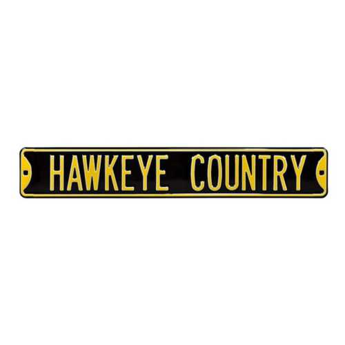 "Authentic Street Signs Iowa Hawkeyes ""Hawkeye Country"" Street Sign"