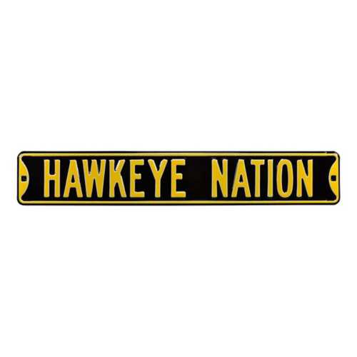 "Authentic Street Signs Iowa Hawkeyes ""Hawkeye Nation"" Street Sign"