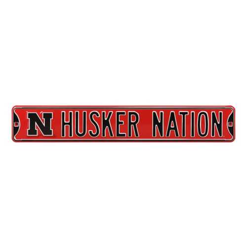 Authentic Street Signs Nebraska Cornhuskers Husker Nation Street Sign
