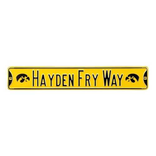 "Authentic Street Signs Iowa Hawkeyes ""Hayden Fry Way"" Street Sign"