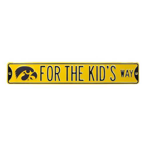"""Authentic Street Signs Iowa Hawkeyes """"The Kid's Way"""" Street Sign"""
