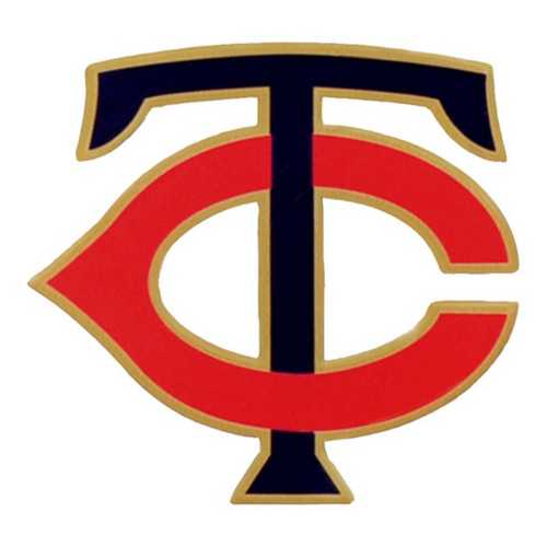 "Authentic Street Signs Minnesota Twins ""TC"" Steel Magnet"