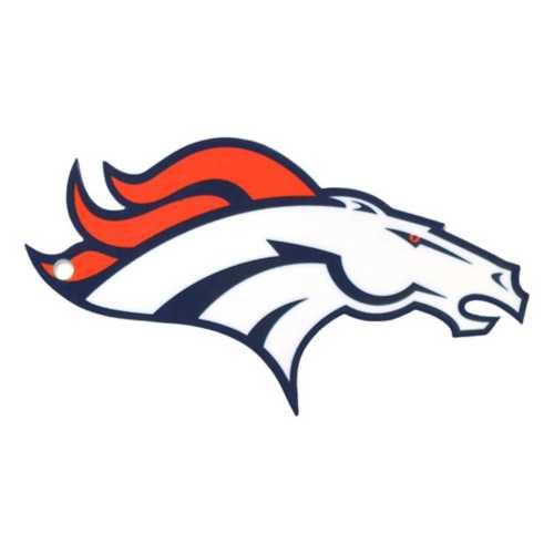 Authentic Street Signs Denver Broncos Steel Magnet