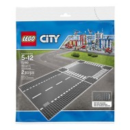 LEGO City Supplementary Straight & Crossroad Plate