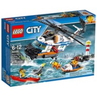 LEGO City Coast Guard Heavy-Duty Rescue Helicopter Building Set