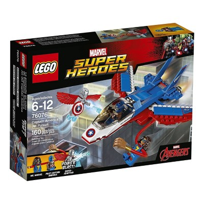 LEGO Super Heroes Captain America Jet Pursuit Building Kit