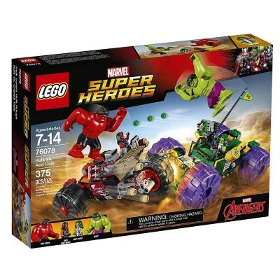 LEGO Super Heroes Hulk Vs. Red Hulk Building Kit' data-lgimg='{
