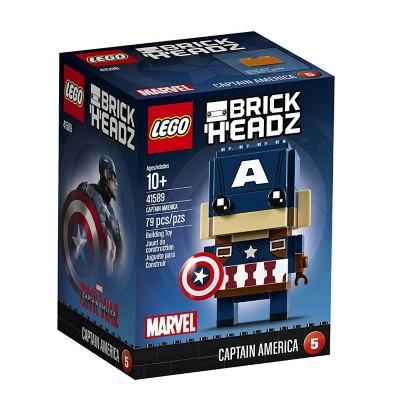LEGO BrickHeadz Captain America Building Kit' data-lgimg='{