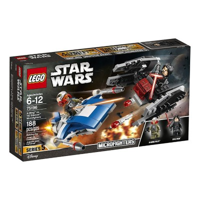 LEGO Star Wars A-Wing vs. TIE Silencer Microfighters' data-lgimg='{