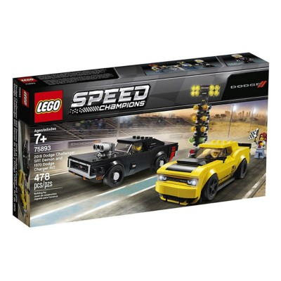 LEGO Speed Champions 2018 Dodge Challenger SRT Demon And 1970 Dodge Charger R/T Building Kit
