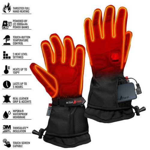 Men's ActionHeat 5V Battery Heated Premium Gloves