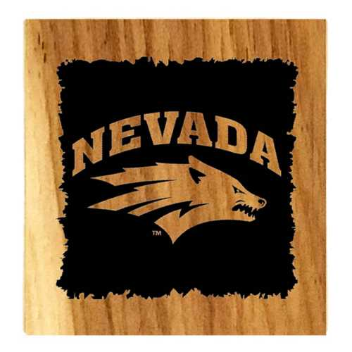 Timeless Etchings Nevada Wolf Pack Hickory 4pc Coaster Set