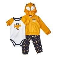 Infant Boys' Bunz Kidz Little Fox Hooded 3 Piece Set