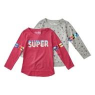 Preschool Girls' Bunz Kidz Super 2 Pack Long Sleeve Shirts