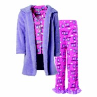 Toddler Girls' Bunz Kidz Night Owl Robe & Pajama Set