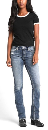 Women's Silver Jeans Elyse Mid-Rise Bootcut Jeans