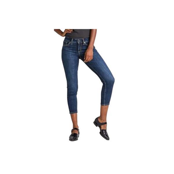 b203f30855c0d Indigo Tap to Zoom; Women's Silver Jeans Suki Mid Rise Skinny Crop