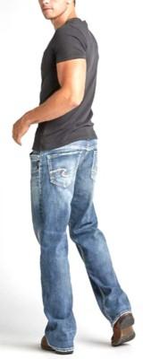 Men's Silver Jeans Gordie Loose Fit Medium Wash Straight Leg Jean