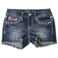 Grade School Girls' Grace In LA Salute Denim Short