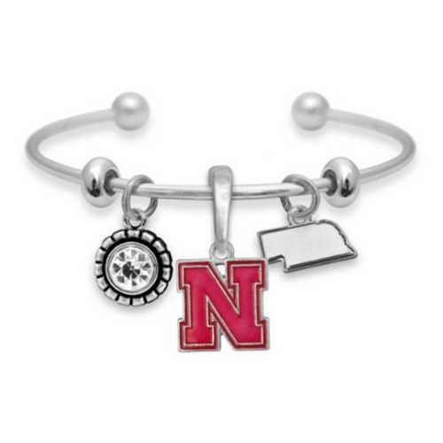 From The Heart Nebraska Cornhuskers Home Sweet Bracelet