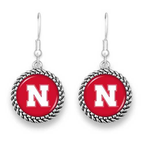 From The Heart Nebraska Cornhuskers Olivia Earrings