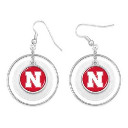From The Heart Nebraska Cornhuskers Lindy Earrings