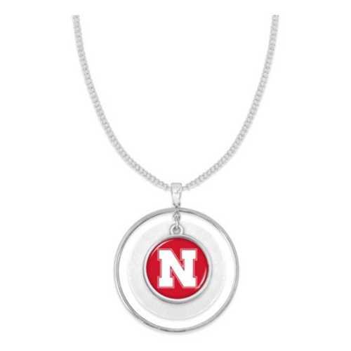 From The Heart Nebraska Cornhuskers Lindy Necklace