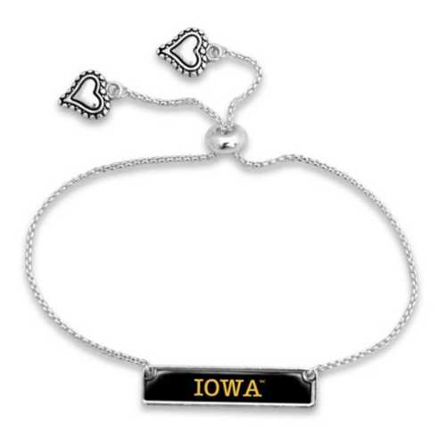 From The Heart Iowa Hawkeyes Name Plate Bracelet