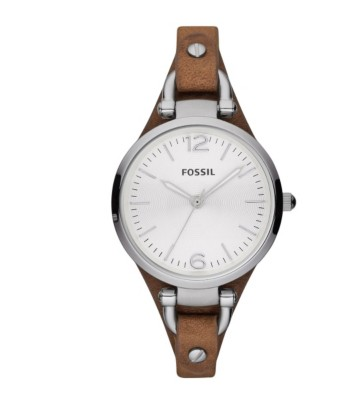 Women's Fossil Georgia Three Hand Leather Watch
