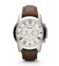 Men's Fossil Grant Chronograph Leather Watch