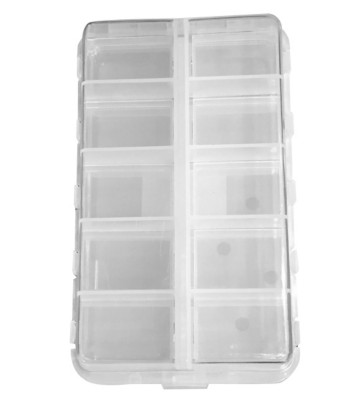 KMDA Clear 20-Compartment Hinged Fly Box