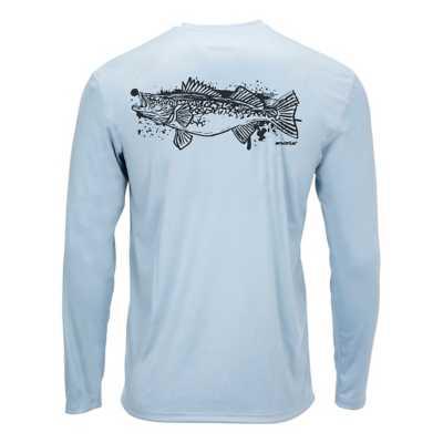 Walleye Splash Steel Blue