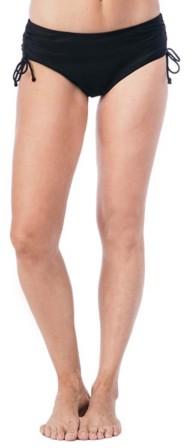 Women's 24th & Ocean Solid Adjustable Hi-Waist Bikini Bottom