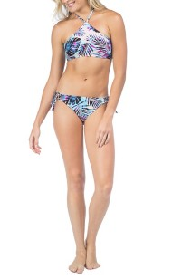 Women's Hobie Leaf High Neck Bikini Top