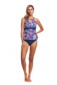 Women's 24th & Ocean Paisley Lane Hi-Neck Tankini