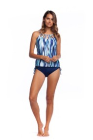 Women's 24th & Ocean On the Horizon Cutout Tankini