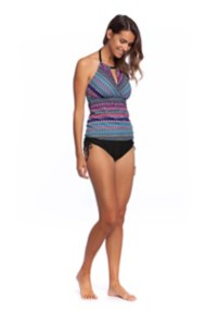 Women's 24th & Ocean Tribal Pursuit Hi-Neck Tankini