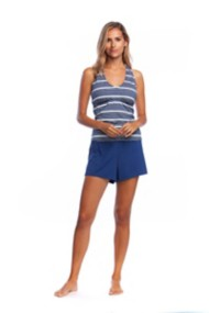 Women's 24th & Ocean Lux Gold Stripe Tankini