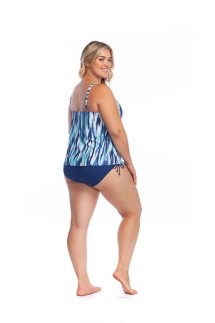 Women's 24th & Ocean Plus Size On the Horizon Cutout Tankini