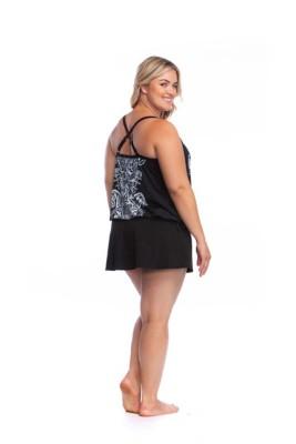 Women's 24th & Ocean Plus Size Moroccan Paisley Tankini