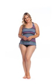 Women's 24th & Ocean Plus Size Tribal Pursuit Tankini