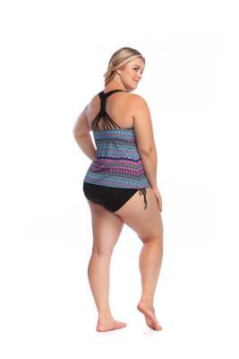 Women's 24th & Ocean Plus Size Tribal Pursuit Tankini