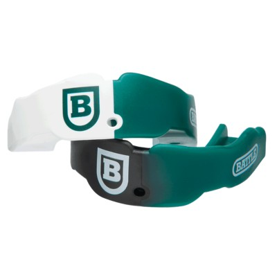 Adult Battle Green/White/Black Mouthguard 2 Pack